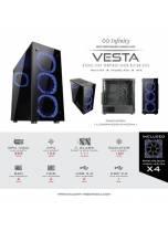 Casing Infinity Vesta + 4 Fan Blue - CASING GAMING